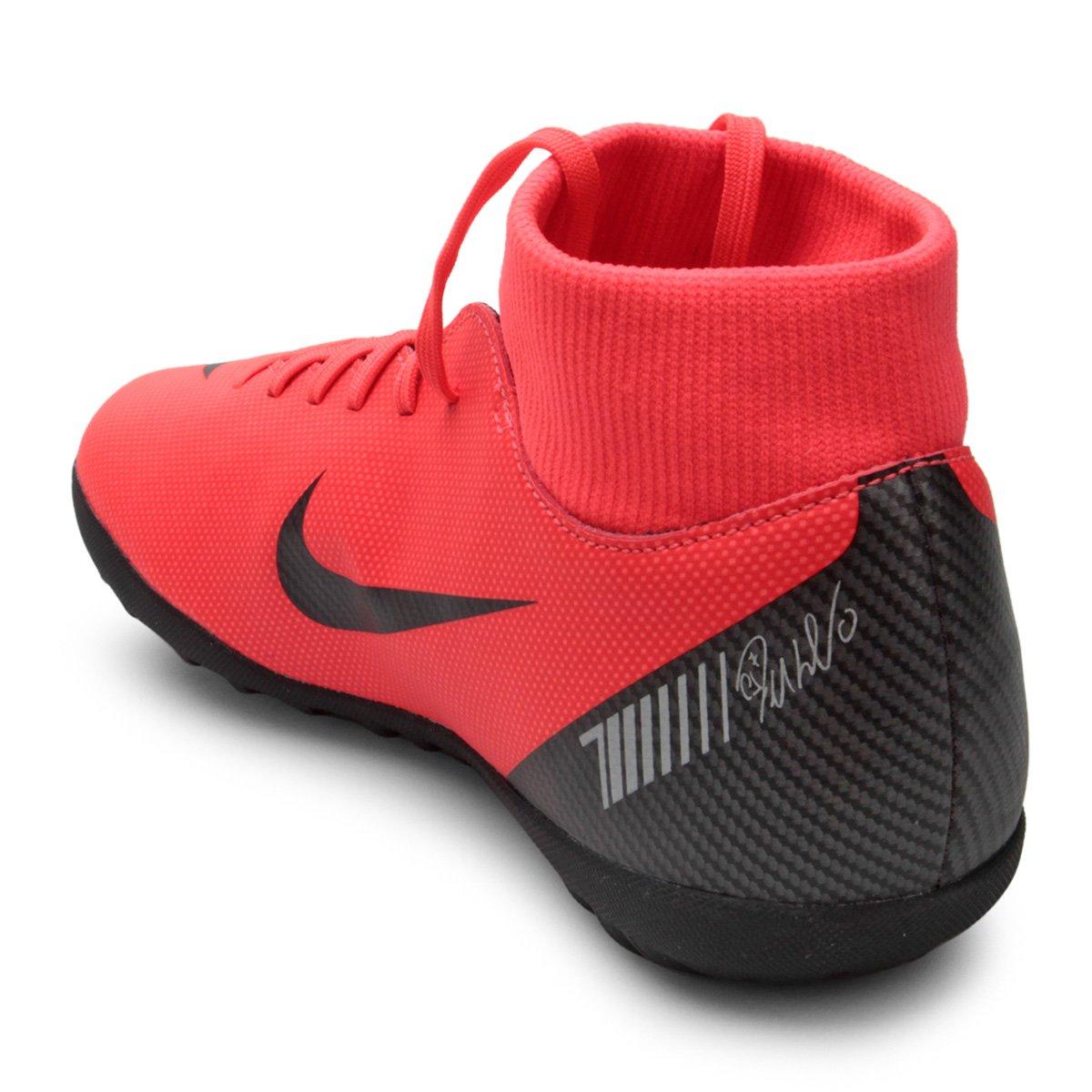 152a1a6a2c Chuteira Society Nike Superfly 6 Club CR7 TF - Vermelho e Preto ...