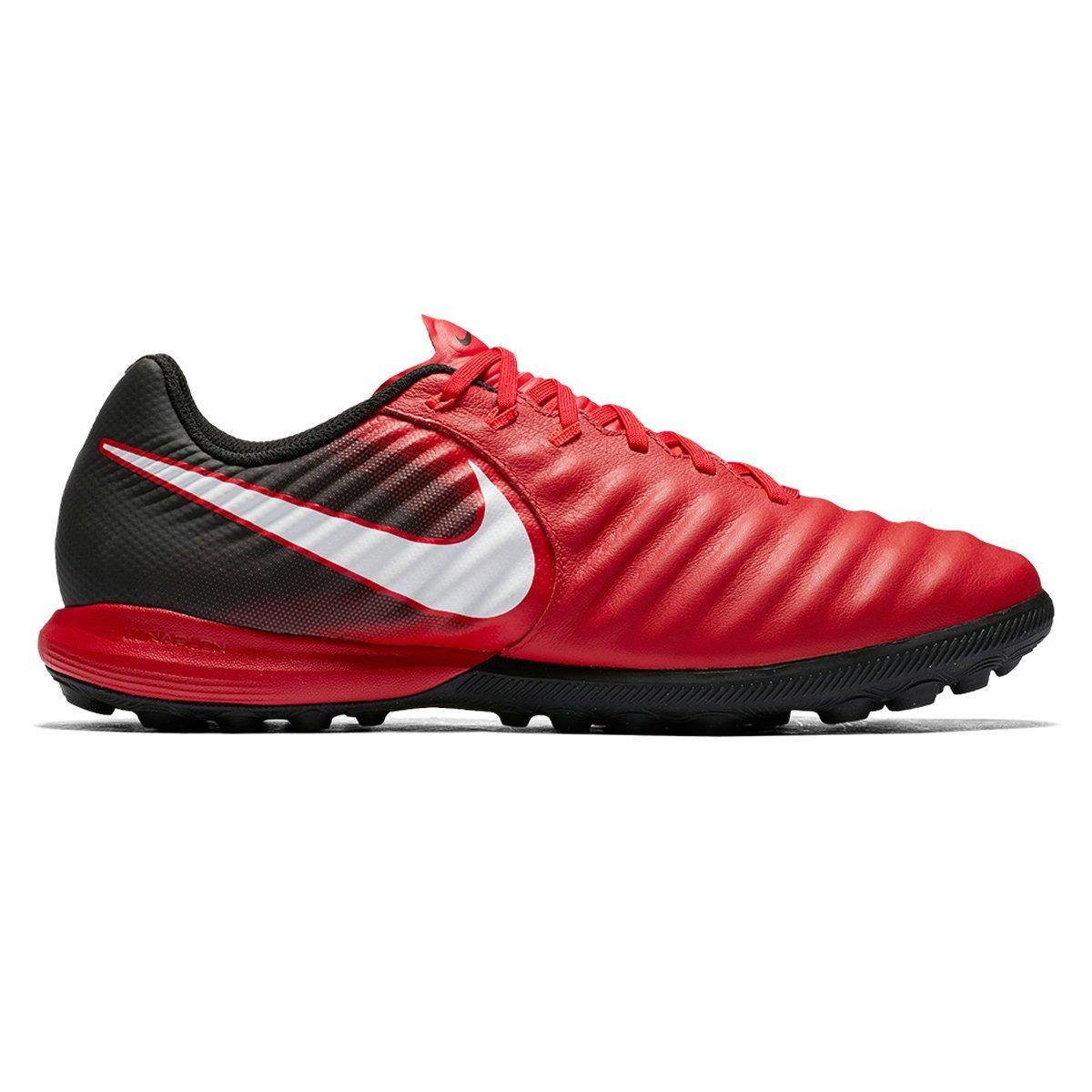 eaaea0b552d68 Chuteira Society Nike Tiempo Finale TF - Vermelho e Branco - Compre Agora