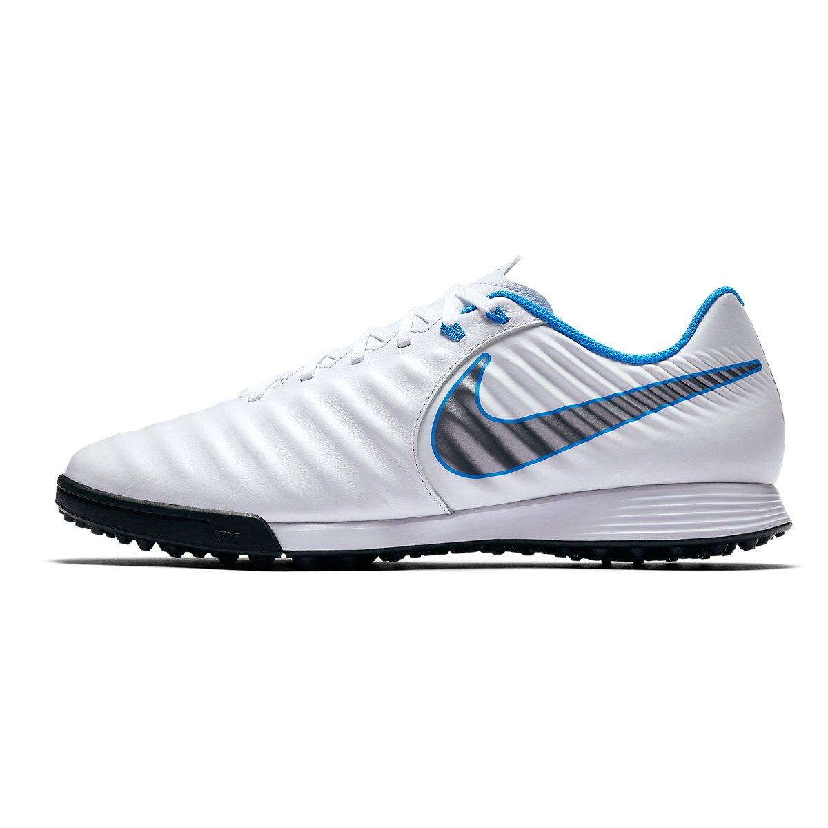 8e0acc5d8 Chuteira Society Nike Tiempo Legend 7 Academy TF - Branco e Cinza - Compre  Agora