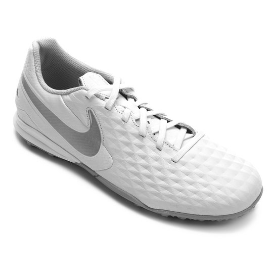 Chuteira Society Nike Tiempo Legend 8 Academy TF - Branco+prata