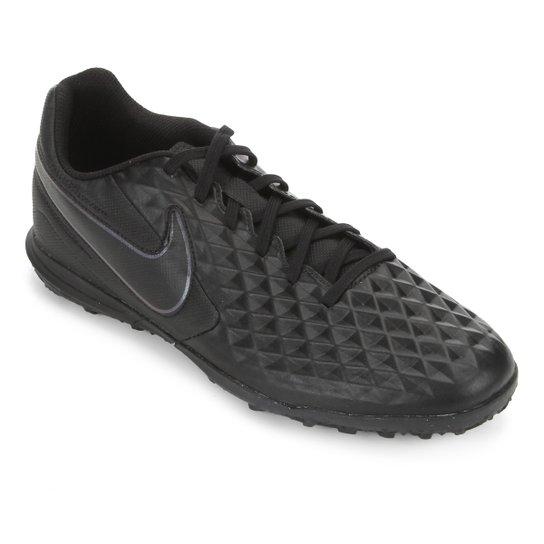 Chuteira Society Nike Tiempo Legend 8 Club - Preto