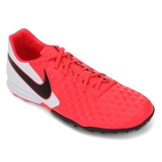 Chuteira Society Nike Tiempo Legend 8 Pro TF - Vermelho+Preto