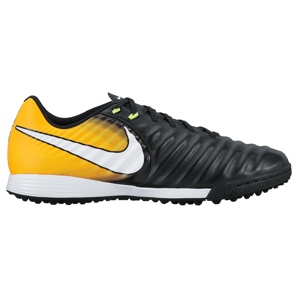 f985b1ccc3 Chuteira Society Nike Tiempo Ligera 4 TF - Preto e Laranja - Compre ...