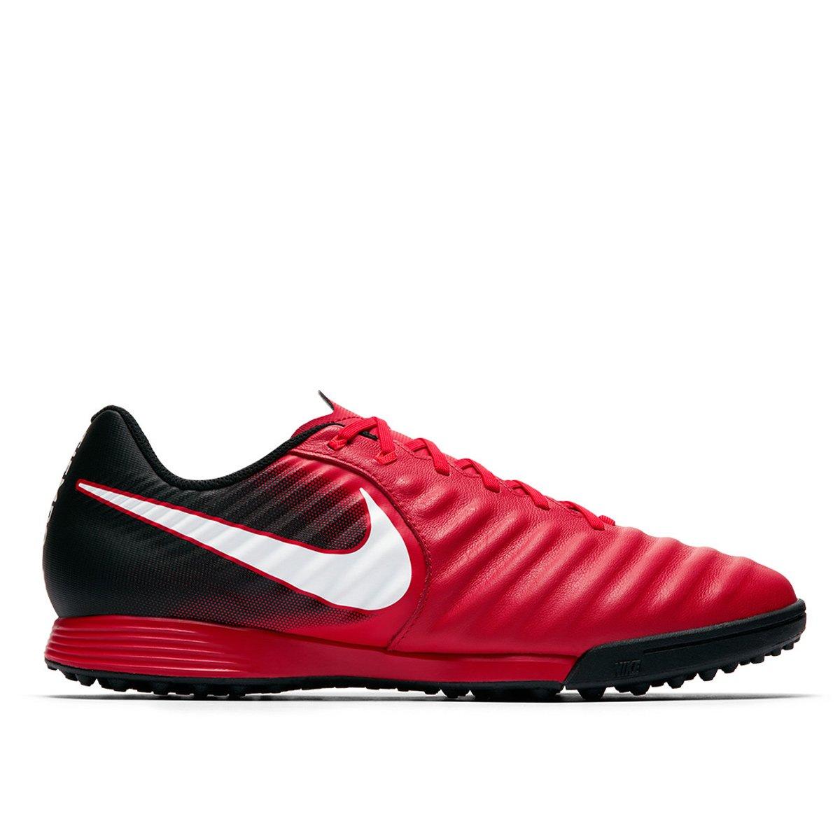 925eca8e1f Chuteira Society Nike Tiempo Ligera 4 TF - Vermelho e Branco