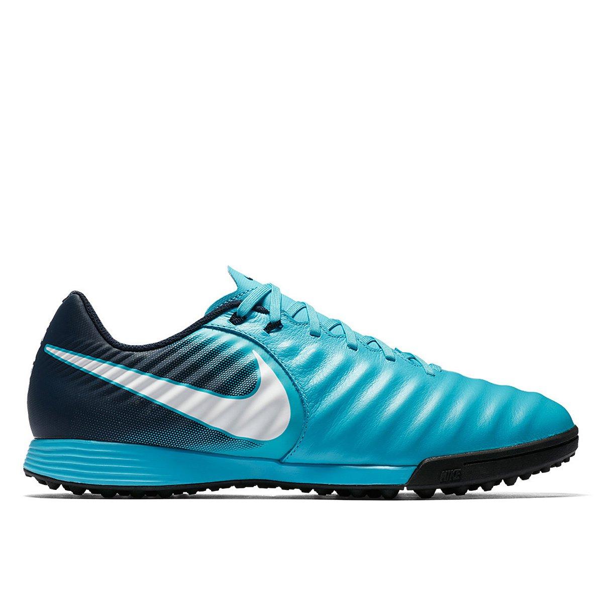 5bbf35bdb3 Chuteira Society Nike Tiempo Ligera 4 TF - Azul e Branco - Compre ...