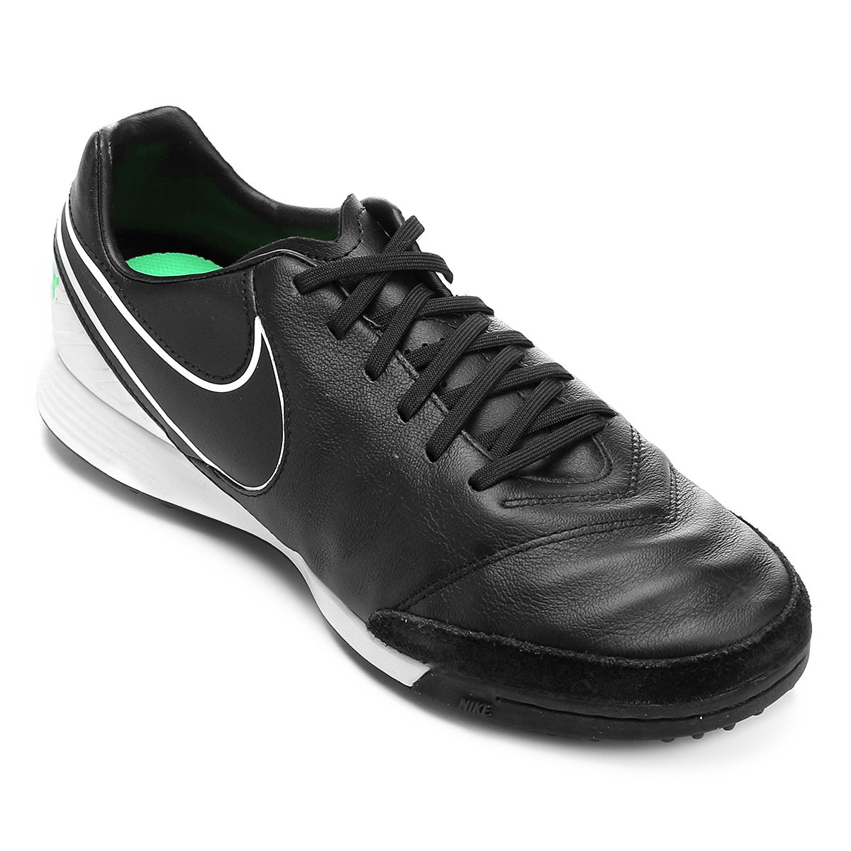 4ed7d631a888d Chuteira Society Nike Tiempo Mystic 5 TF - Preto e verde - Compre Agora