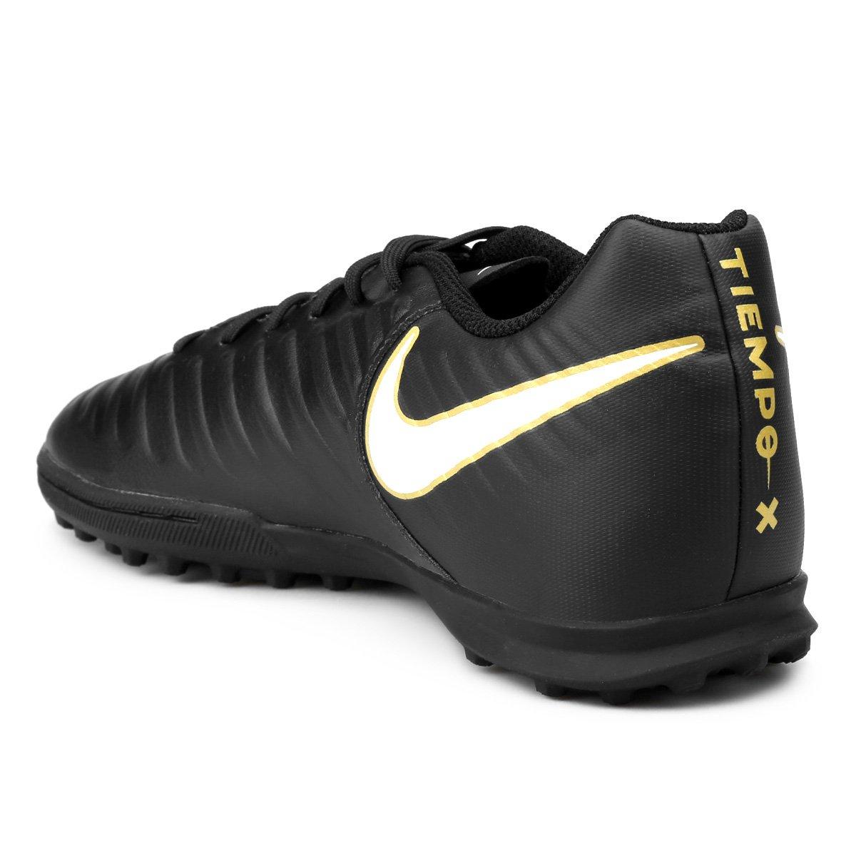 e730274d22 Chuteira Society Nike Tiempo Rio 4 TF - Preto e Branco - Compre ...
