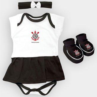 Conjunto Corinthians com 3 peças Infantil