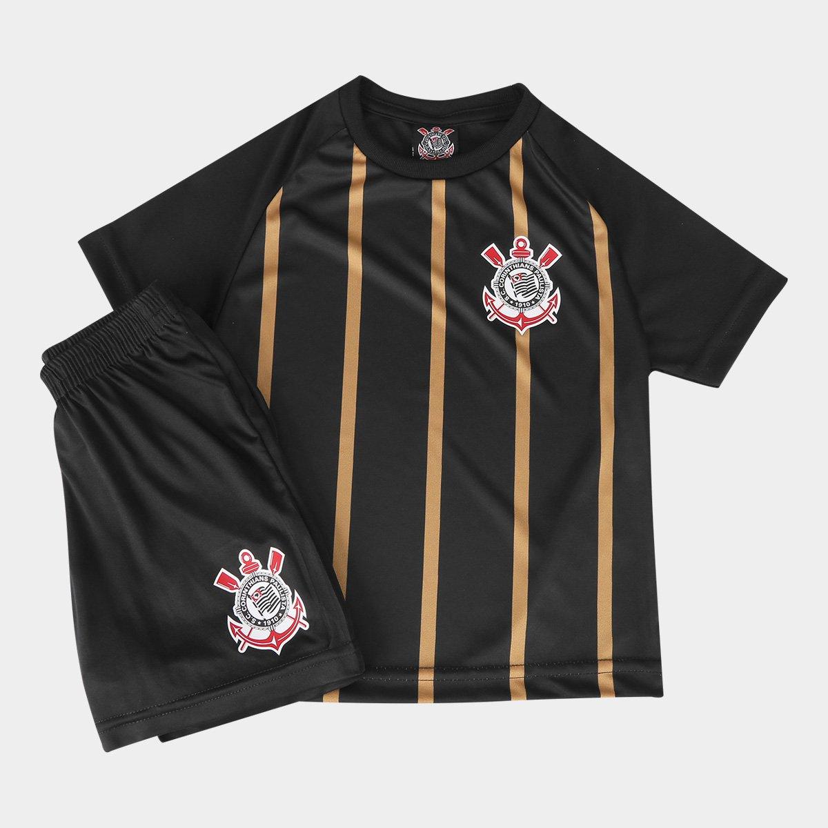 Conjunto Corinthians Infantil Gold - Compre Agora  69369fc2d20d5