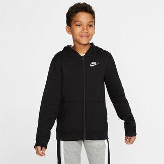 Jaqueta Blusão Infantil Nike FZ Club c/ Capuz Masculina