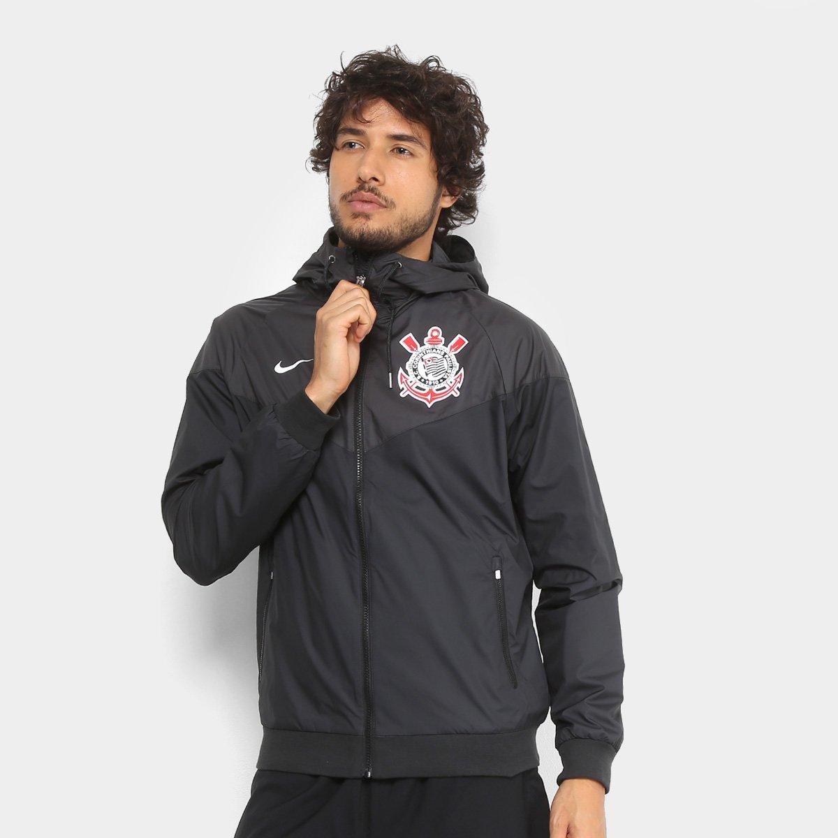68c30e43bd59af Jaqueta Corinthians Nike Sportwear c/ Capuz Masculina   Shop Timão