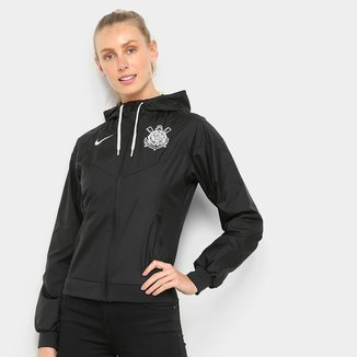 Jaqueta Corta Vento Corinthians Nike Windrunner Feminina