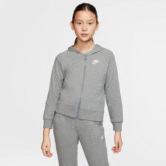 Jaqueta Infantil Nike Sportswear Moletom Capuz Feminina