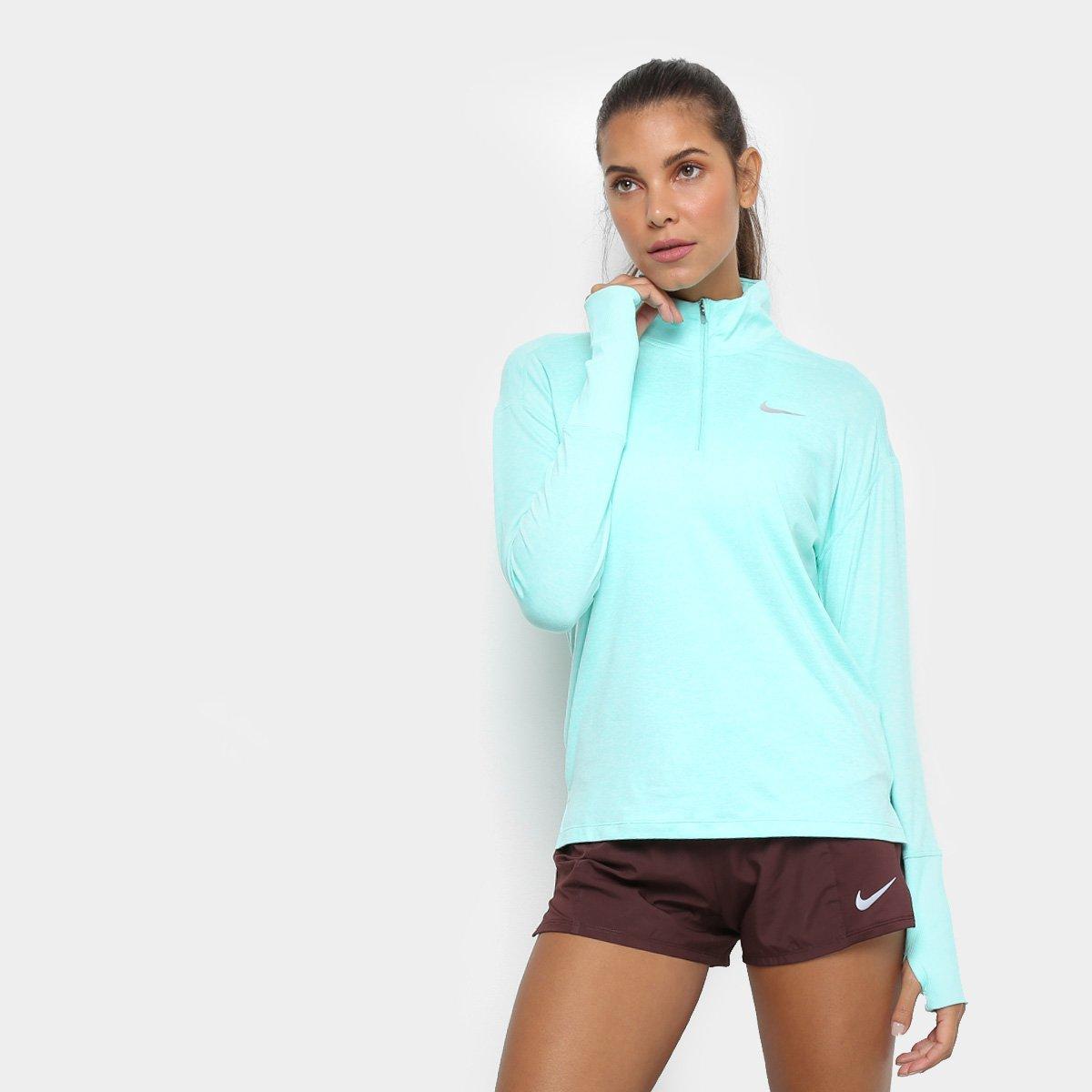 66cea1c5709 Jaqueta Nike Element Top HZ Feminina - Azul Turquesa - Compre Agora ...