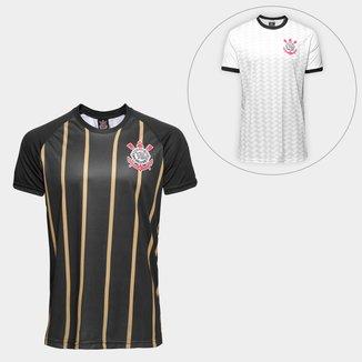 Kit Camisa Corinthians Gold nº10 - Edição Limitada + Camisa Corinthians Libertados