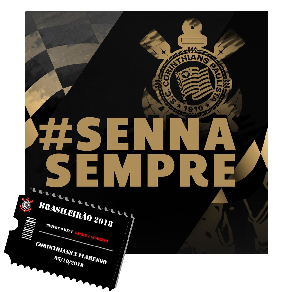 Kit Camisa Corinthians III 2018 s n° - Torcedor Nike Feminina + Ingresso  Jogo COR X FLA - Compre Agora  4de79e15bab