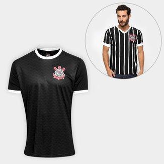 Kit Camisa Corinthians Libertados + Camiseta Corinthians Réplica 1983