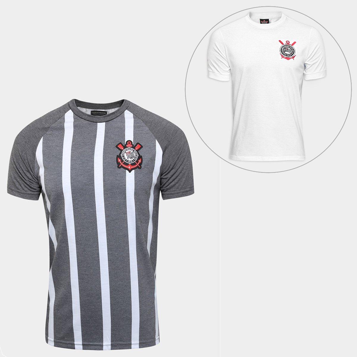 f50c572d71 Kit Camisa Corinthians Retrô + Camisa Corinthians Réplica 1979 ...