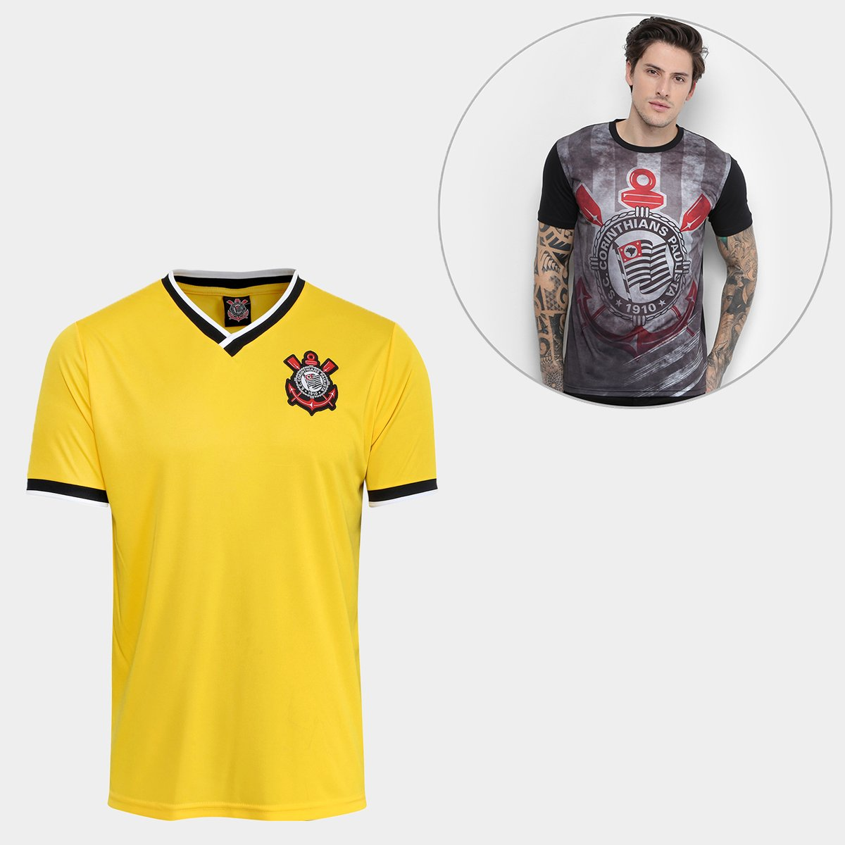 c2d01158b4df7 Kit Camisas 2014 + The Only Corinthians Masculina - Compre Agora ...