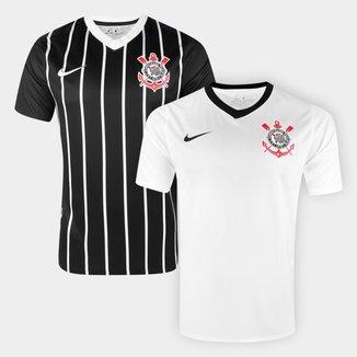 Kit Camisas Corinthians I e II 20/21 s/n° Estádio Nike Masculino