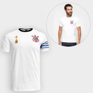 Kit Camiseta Corinthians Capitães Libertadores 2012 n° 2 + Camisa Corinthians Réplica  1979