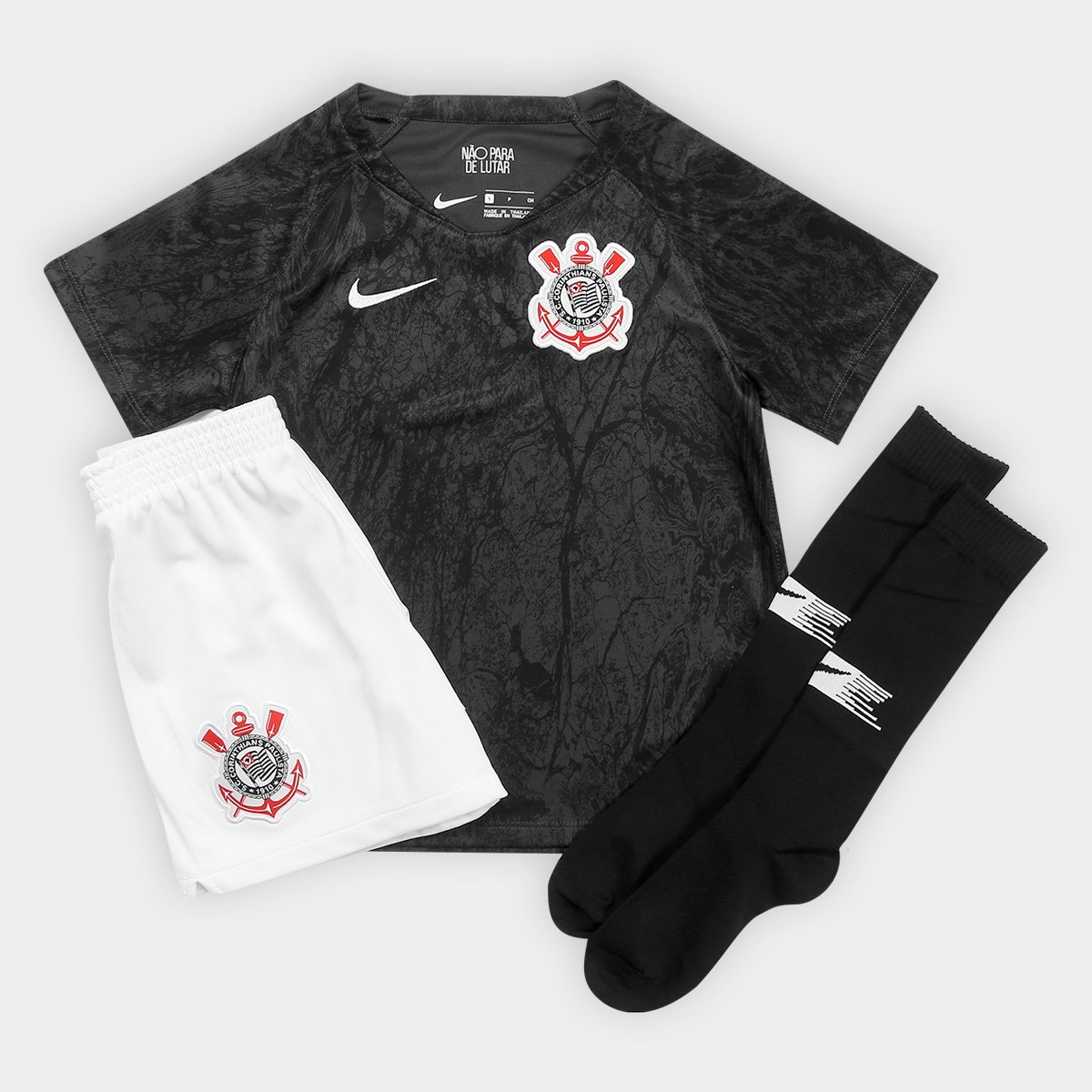 Kit Corinthians Infantil II 2018 s n° Torcedor Nike - Compre Agora ... c453e52cfd38d