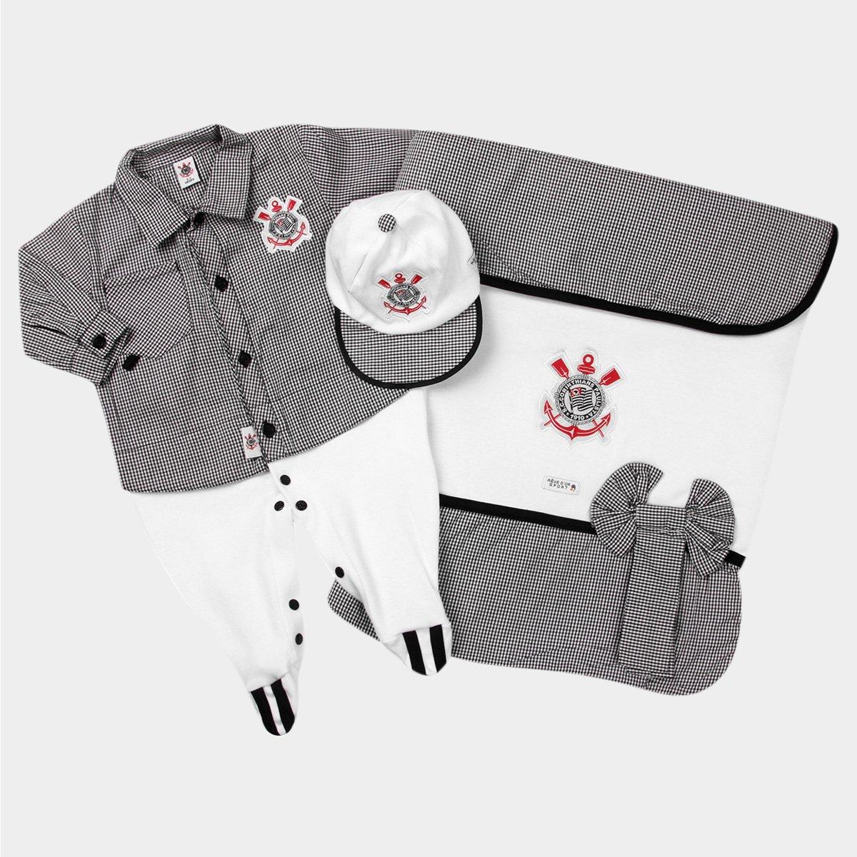 3b2f579573e4e Kit Maternidade Corinthians Bebê Camisa - Compre Agora