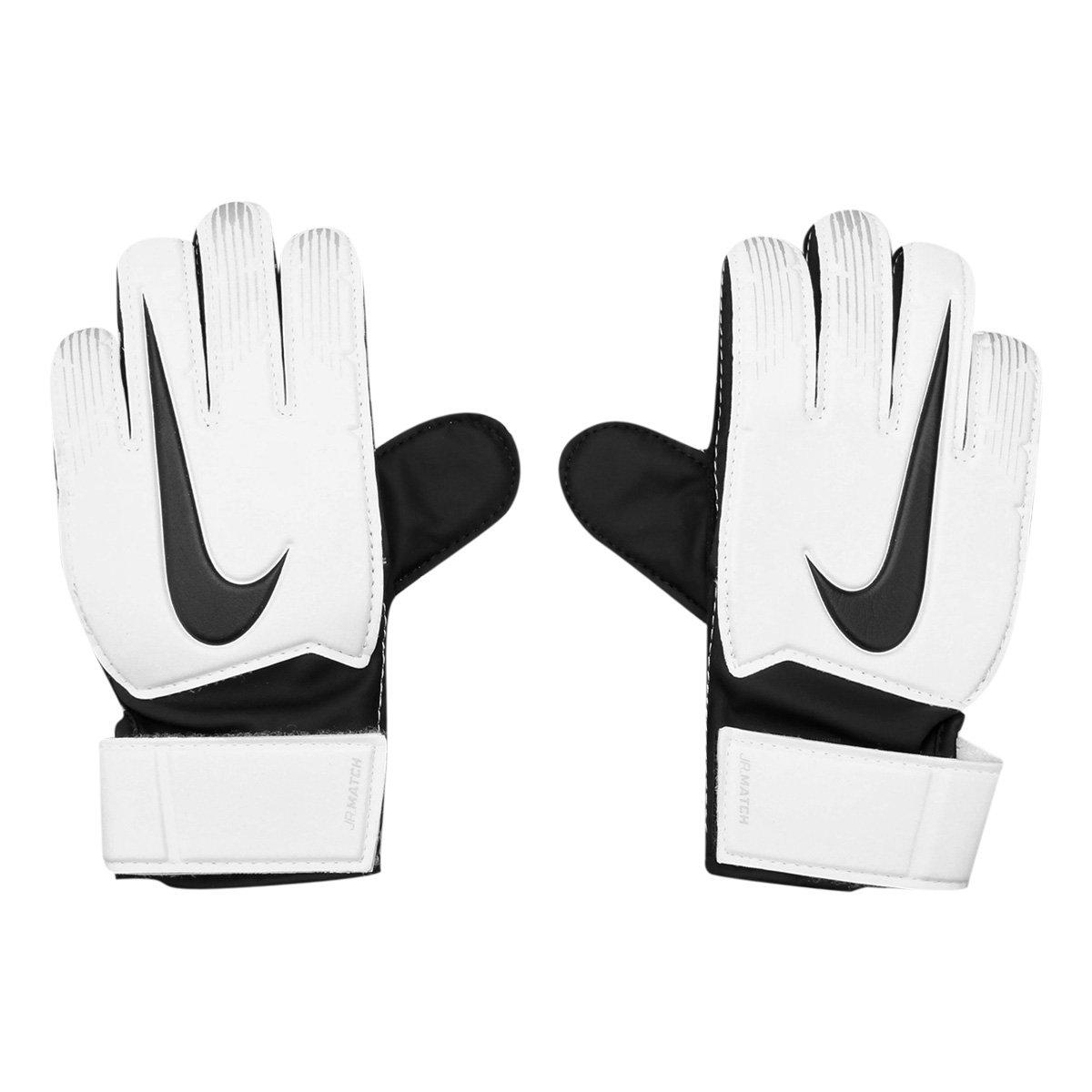 c82fe7ec8 Luva de Goleiro Infantil Nike Match - Branco e Preto