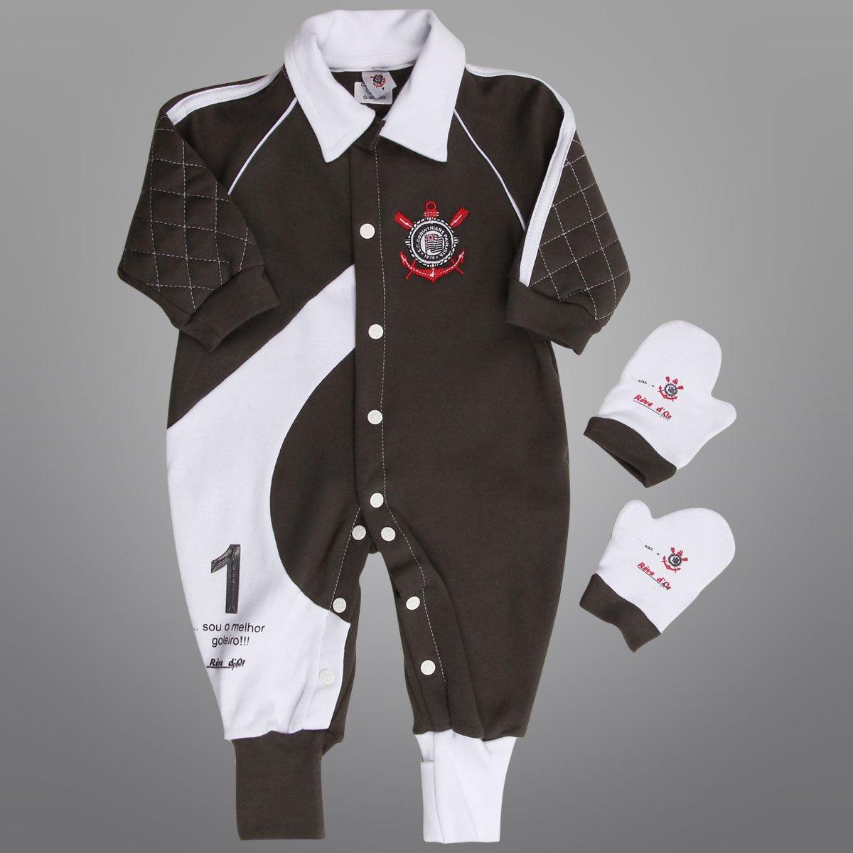 517ecdbf5d205 Macacão Corinthians Infantil Goleiro - Compre Agora