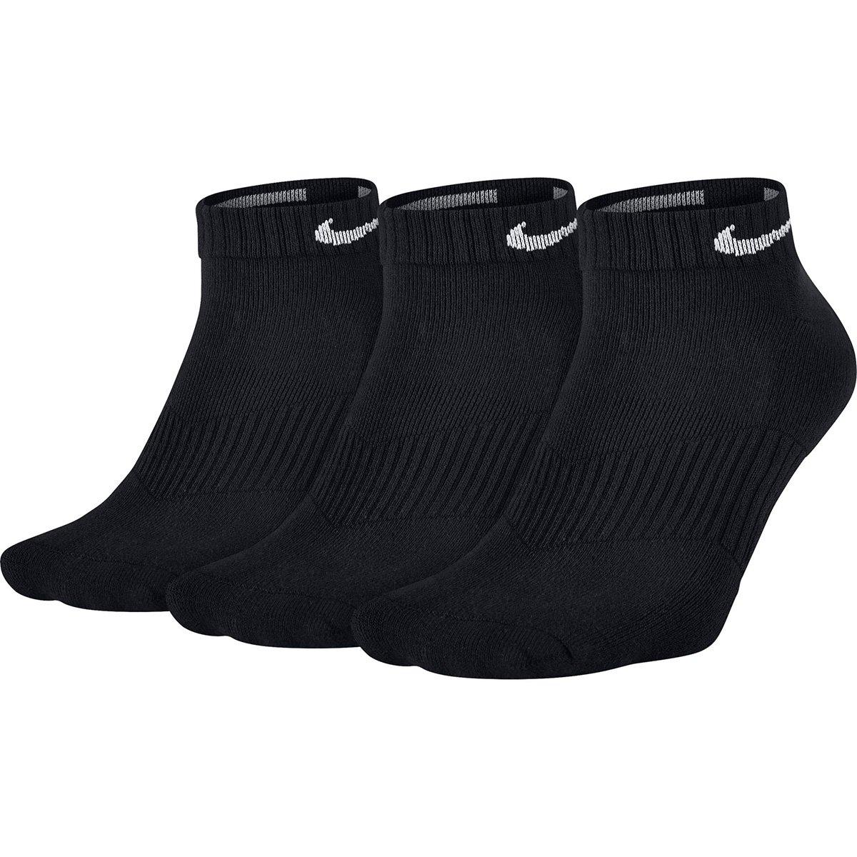 Meia Nike Cano Baixo Dri-Fit Pacote com 3 Pares - Preto - Compre ... 7a94bdf51b891