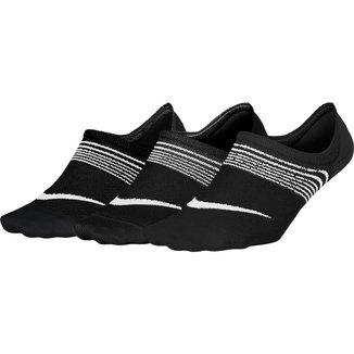 Meia Nike Sem Cano Lightweight Pacote C/ 3 Pares