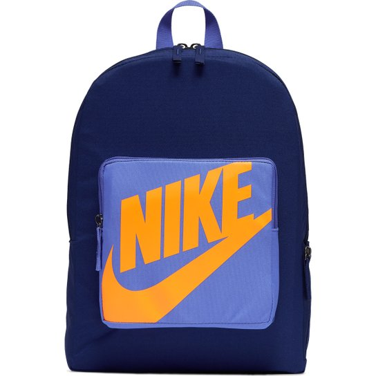Mochila Infantil Nike Classic 16 litros - Azul+Laranja