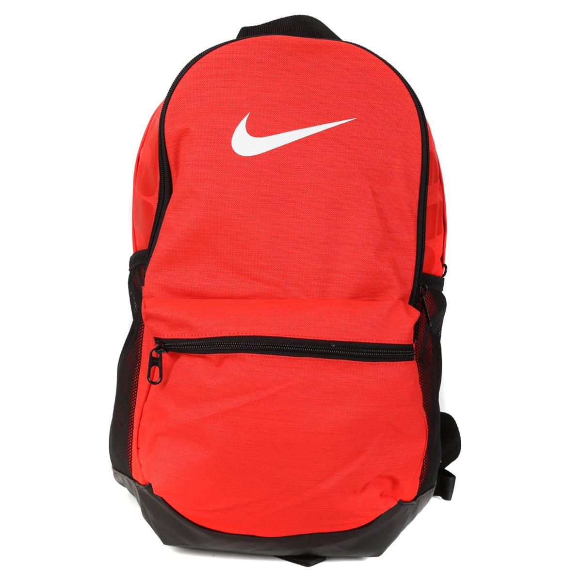 Mochila Nike Brasília - Laranja e Preto - Compre Agora  9d909aae70f61