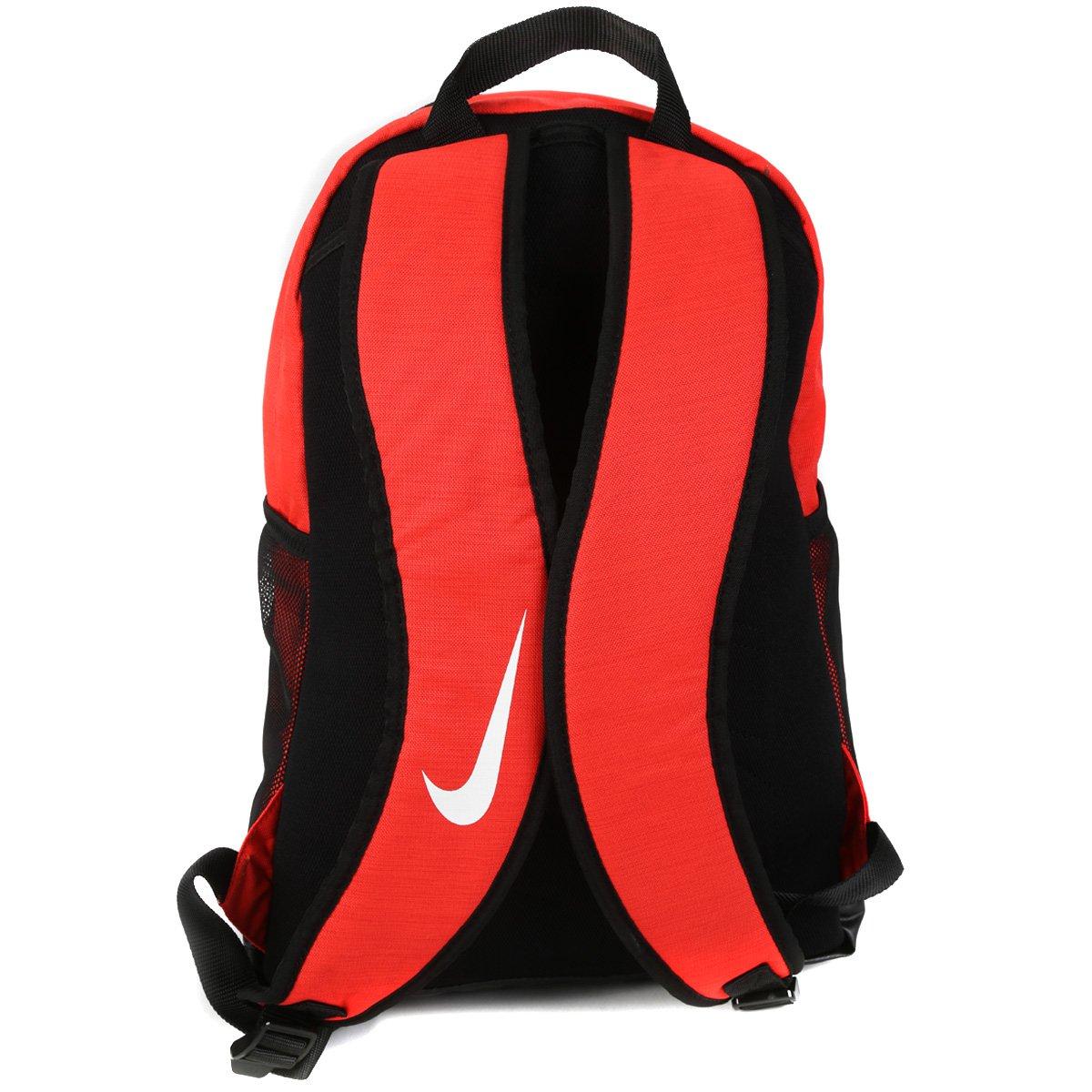 Mochila Nike Brasília - Laranja e Preto - Compre Agora  587bd4d1ee403