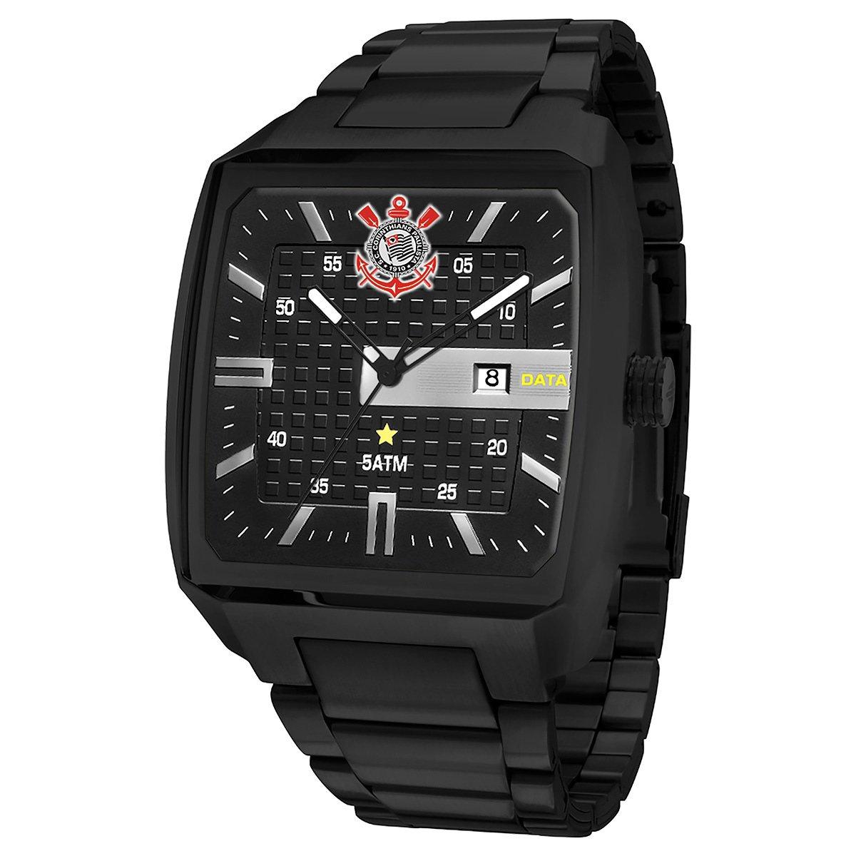 690e177b0f7 Relógio Corinthians Technos Analógico 5 ATM Masculino - Compre Agora ...