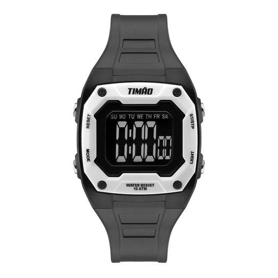 Relógio Digital Corinthians Technos Timão Light Masculino - Preto+Branco