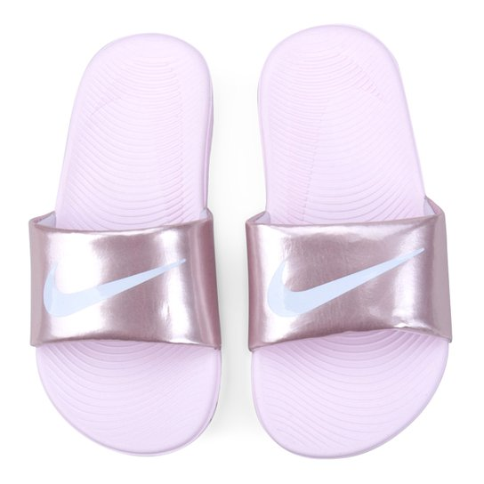 Sandália Infantil Nike Kawa Slide - Rosa+Branco