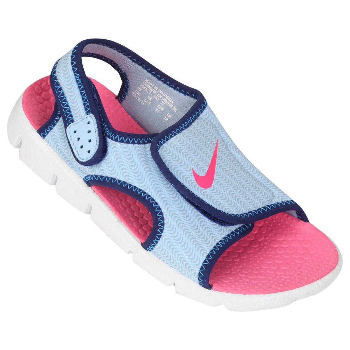 cbfece6bc Sandália Infantil Nike Sunray Adjust 4 GGP Feminina - Marinho e Rosa Claro  | Shop Timão