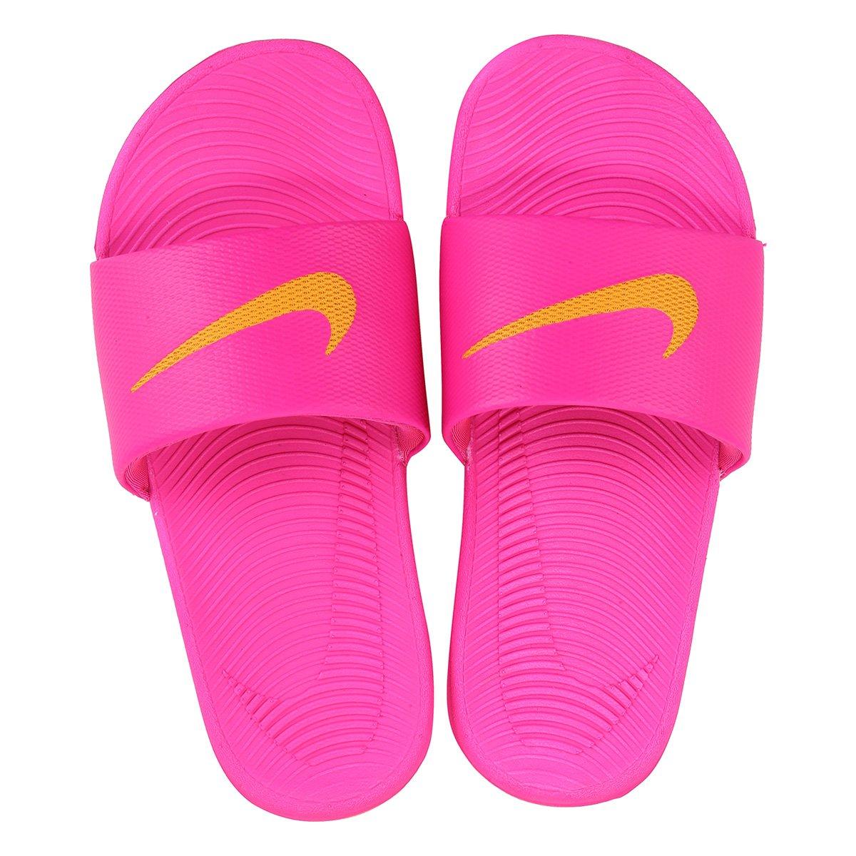 bb853d6544 Sandália Nike Kawa Slide Feminina - Pink e Laranja - Compre Agora ...