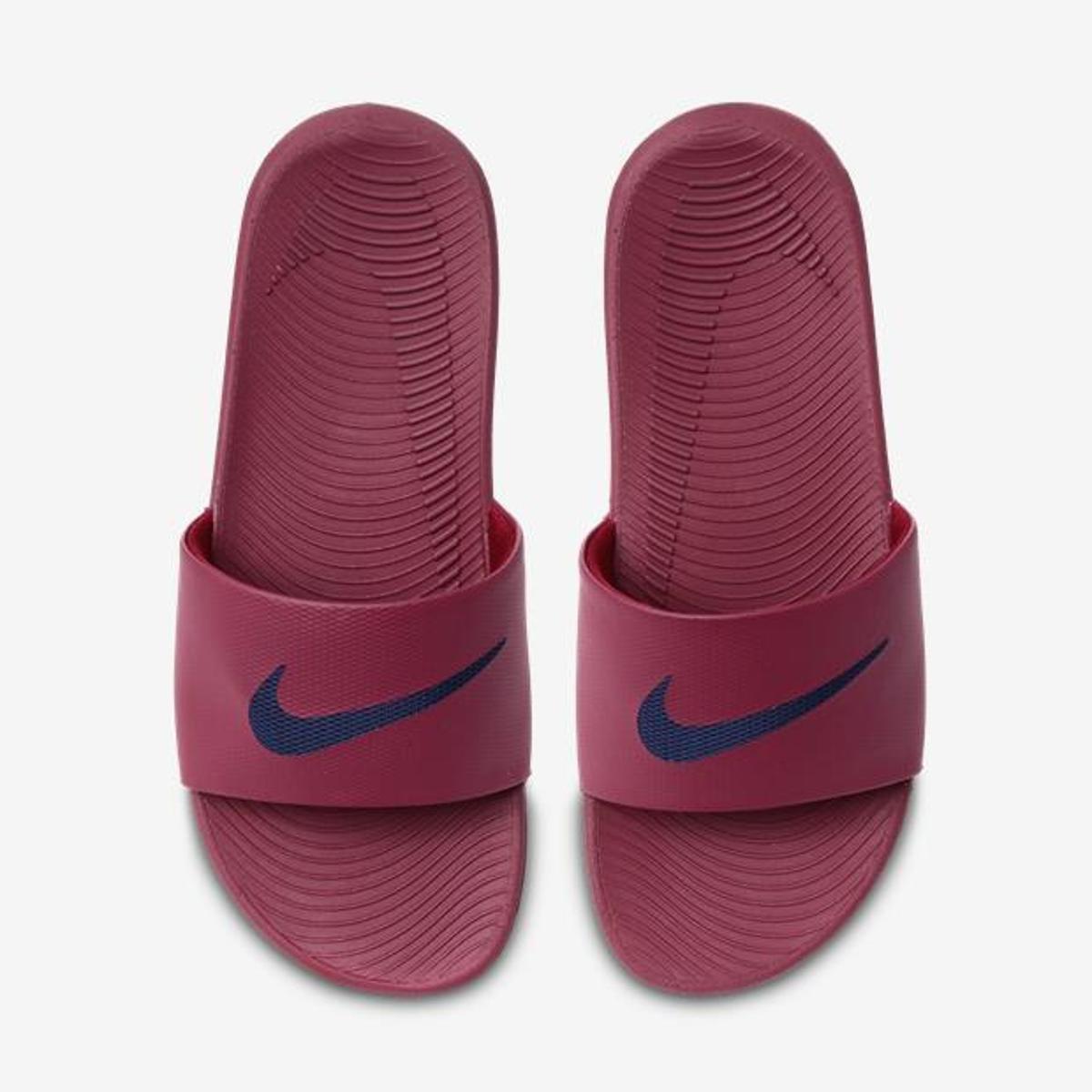 054467decc Sandália Nike Kawa Slide Masculina - Preto e Vermelho | Shop Timão