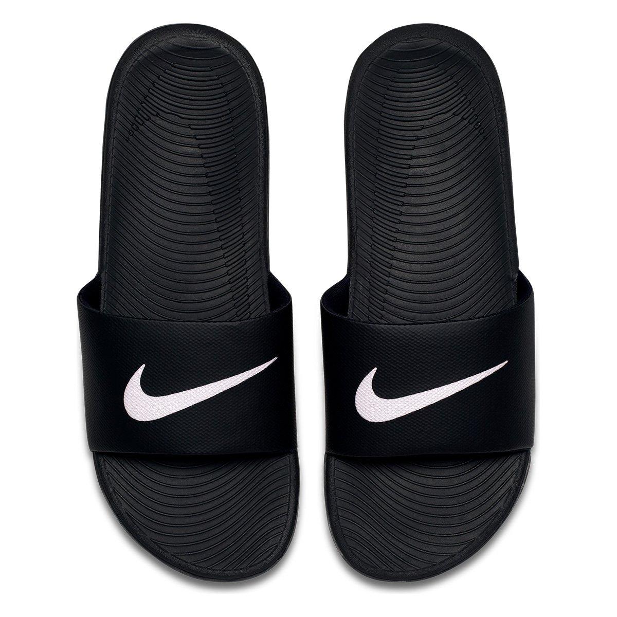 83c6b2c4350 Sandália Nike Kawa Slide Masculina - Preto e Branco - Compre Agora ...