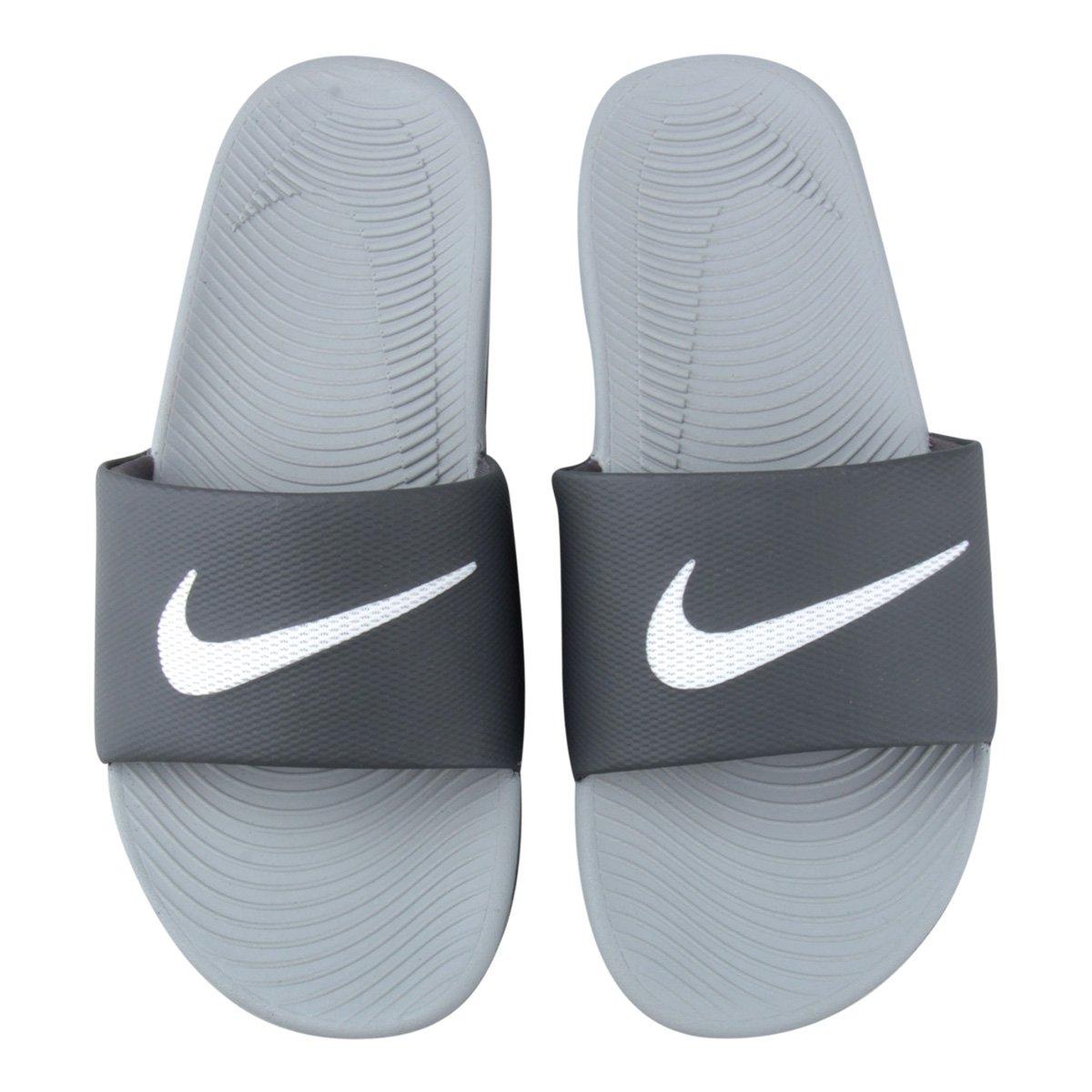 dfa0a9a1f8 Sandália Nike Kawa Slide Masculina - Branco e Cinza - Compre Agora ...