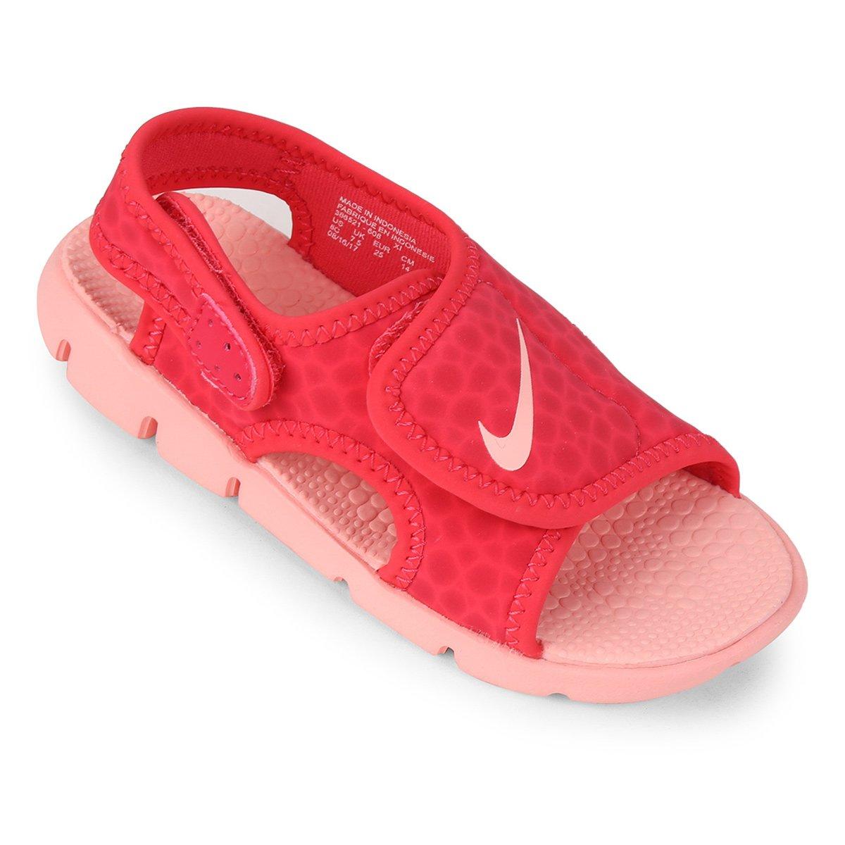 2a6d8ce7bd Sandália Nike Sunray Adjust 4 Infantil - Coral - Compre Agora