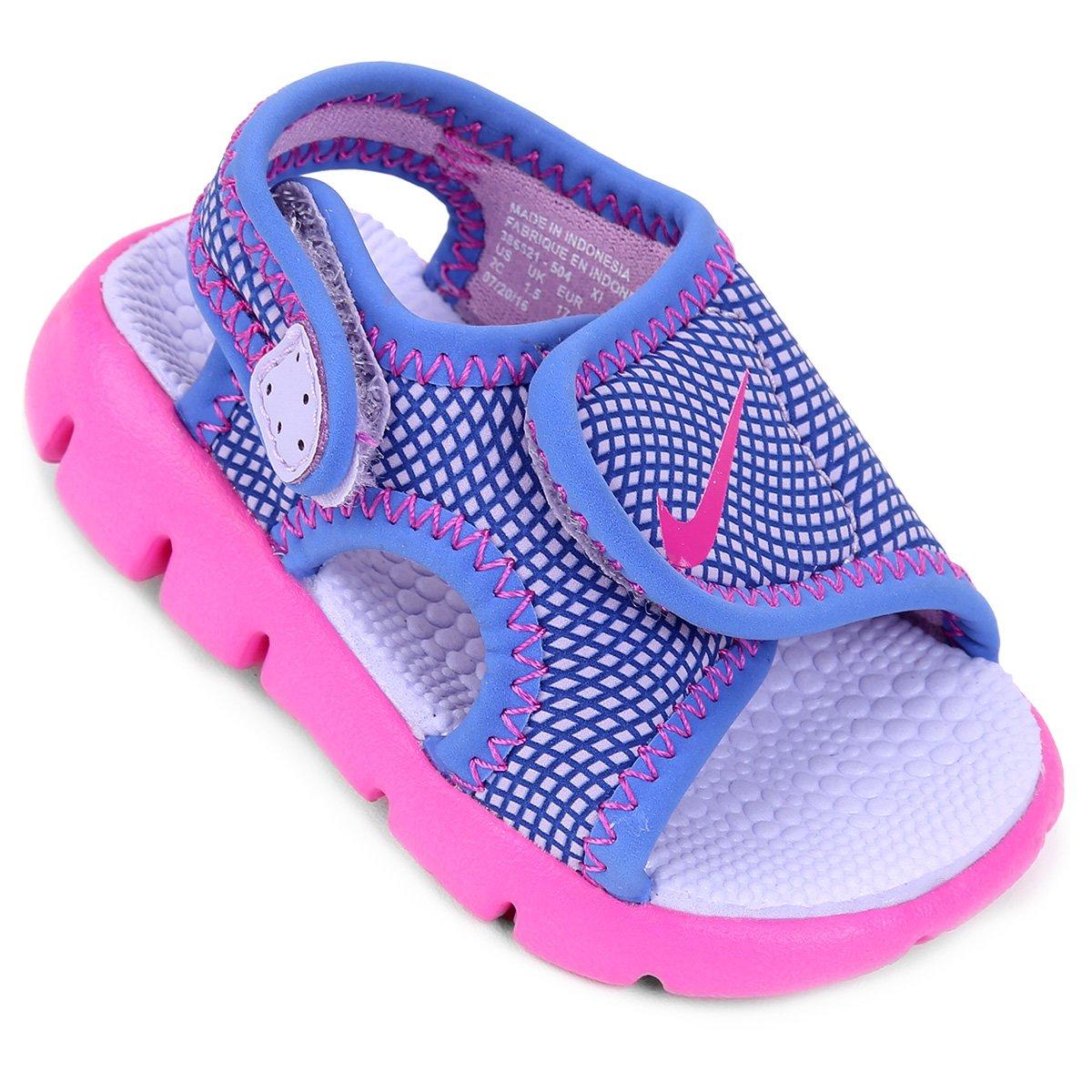 d8b5d1e48 Sandália Nike Sunray Adjust 4 Infantil - Azul e Roxo | Shop Timão
