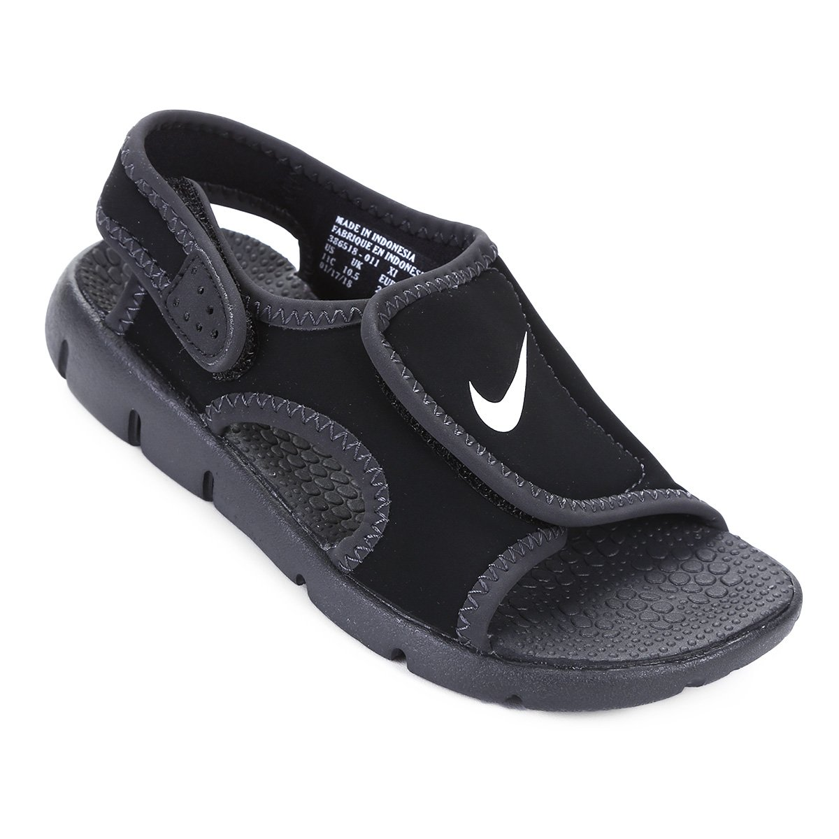 087589404 Sandália Nike Sunray Adjust 4 Juvenil - Preto e Branco | Shop Timão