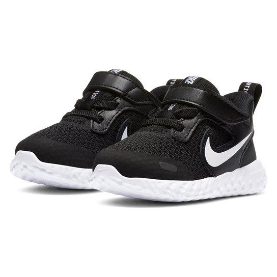 Tênis Bebê Nike Revolution 5 TDV - Preto+Branco