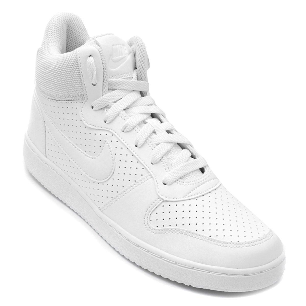 Tênis Couro Cano Alto Nike Recreation Mid Masculino - Branco ... 5b7fa06ec6a6f