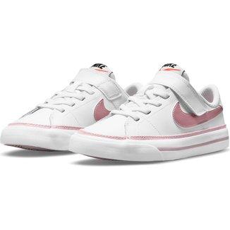 Tênis Couro Juvenil Nike Court Legacy Bpv Masculino