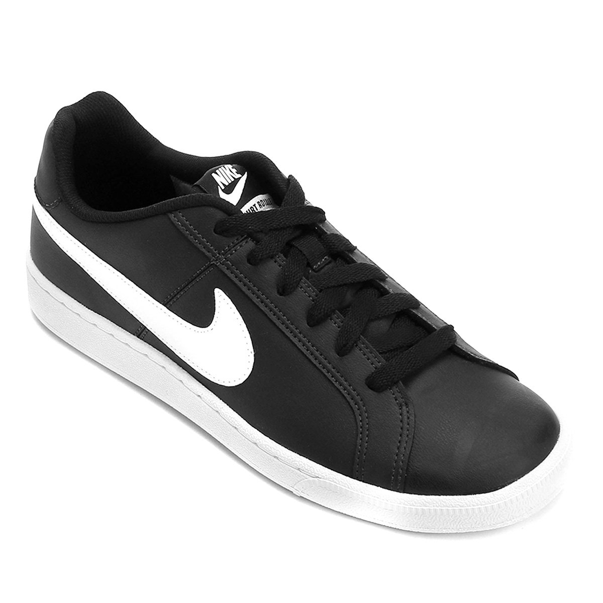 592c8fc04a Tênis Couro Nike Court Royale Masculino - Preto e Branco - Compre ...