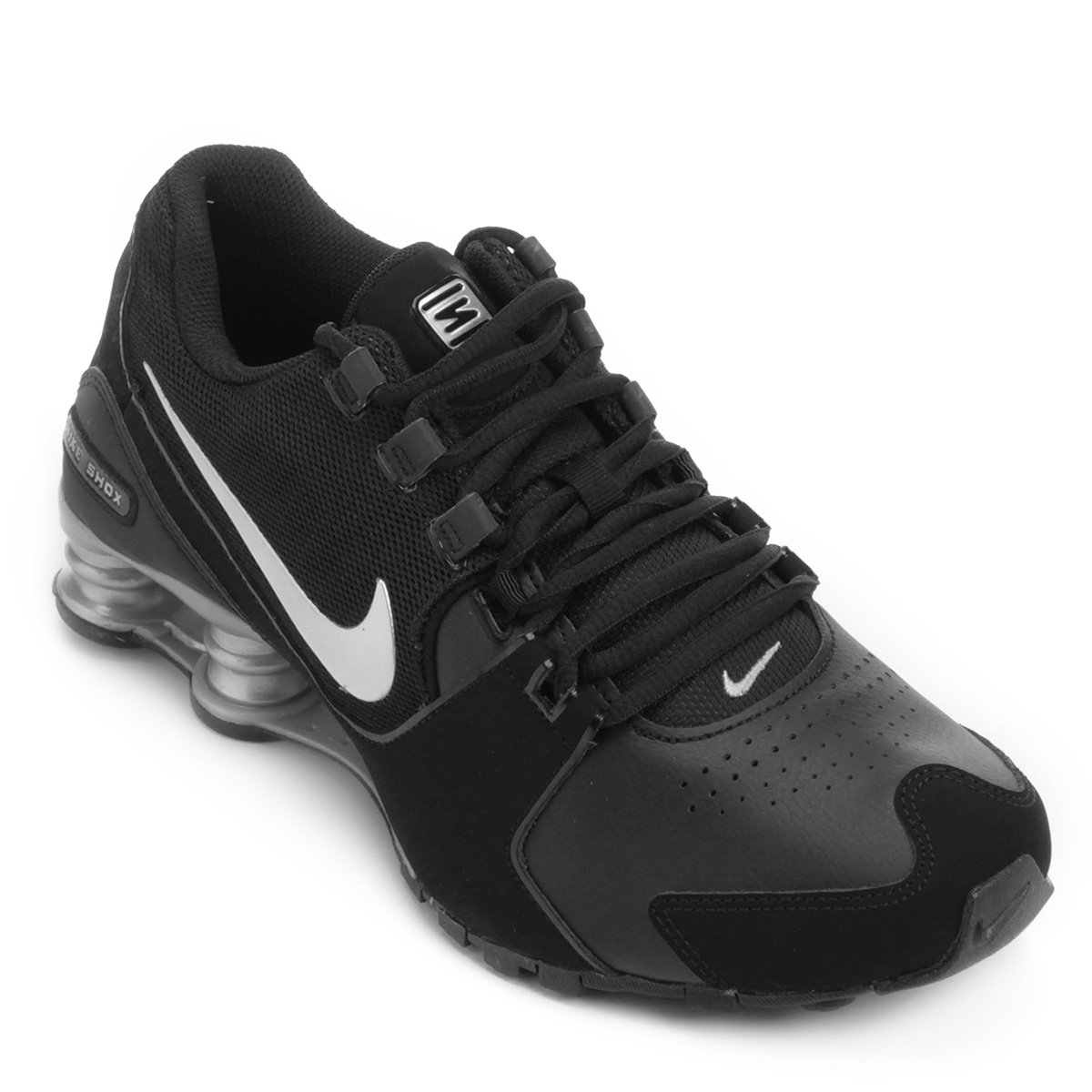 5946d4a6fd Tênis Couro Nike Shox Avenue LTR Masculino - Preto | Shop Timão